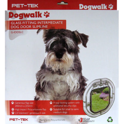 Dogwalk medium dog door for glass